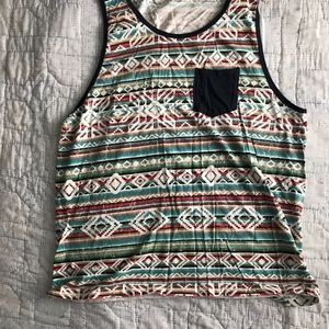 Other - Mens Front Pocket Tribal Tank Tank Top